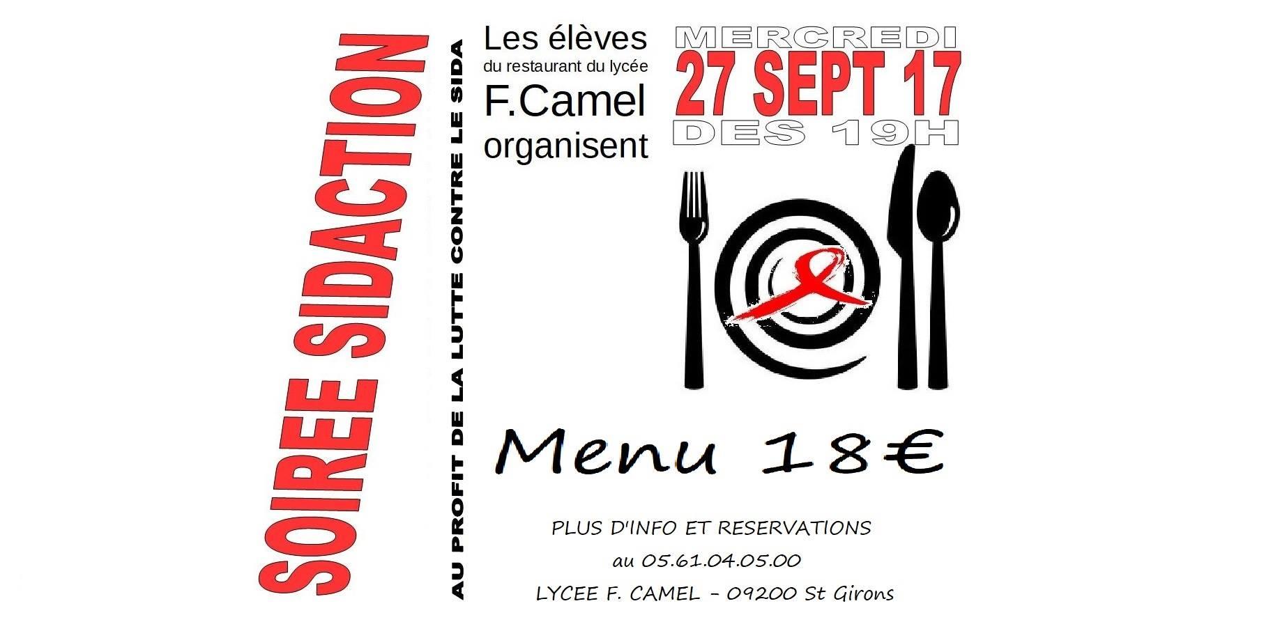 72f127513ec Soirée Sidaction le 27 septembre - Les menus du Restaurant d ...